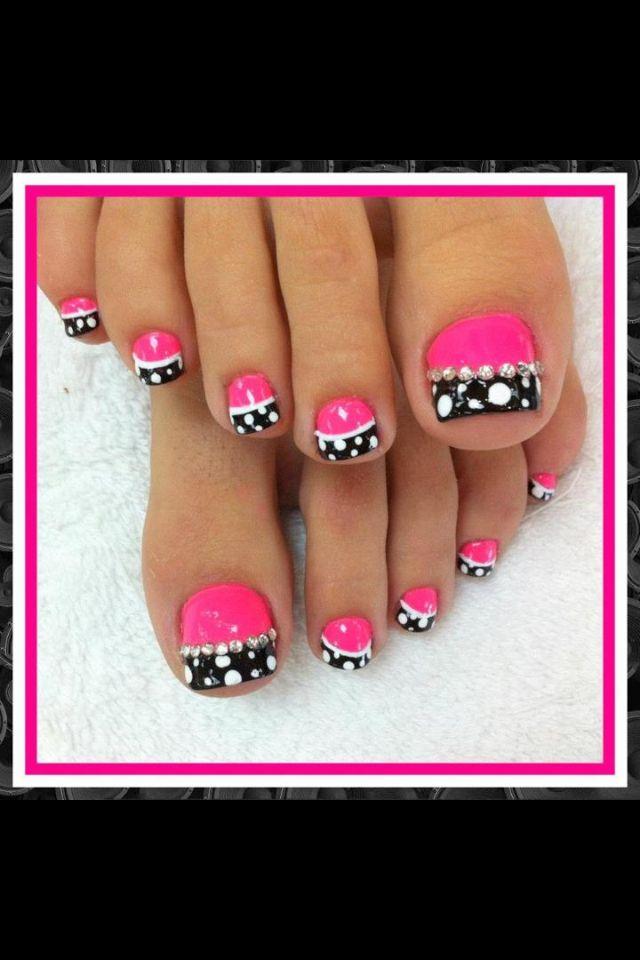 Lovely Toe Nail Design