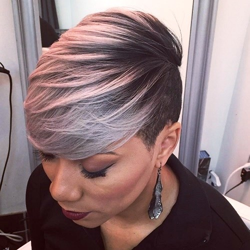 Copper Medium Haircuts for Black Women