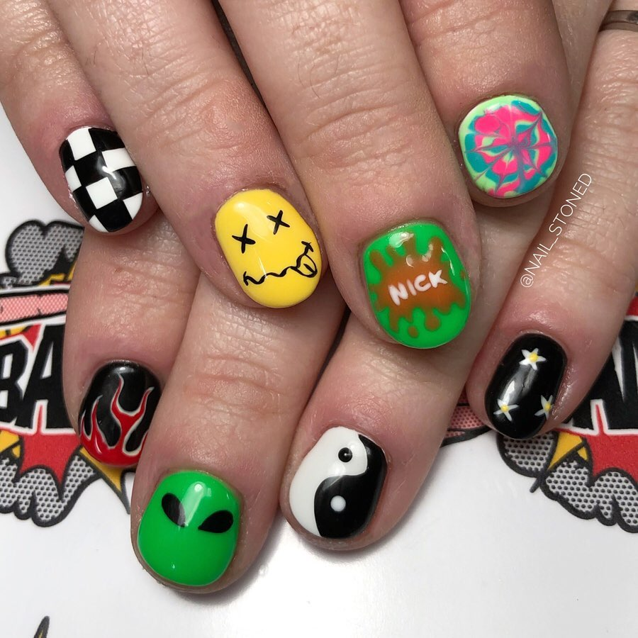 Nick Inspired Amazing Nail Art for Short Nails